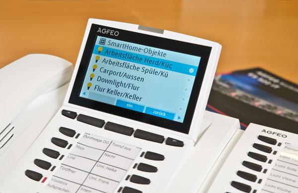 KNX Steuerung über die AGFEO Telefonanlage
